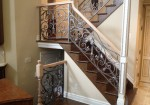 Tuscany Inspired Interior Iron Rail
