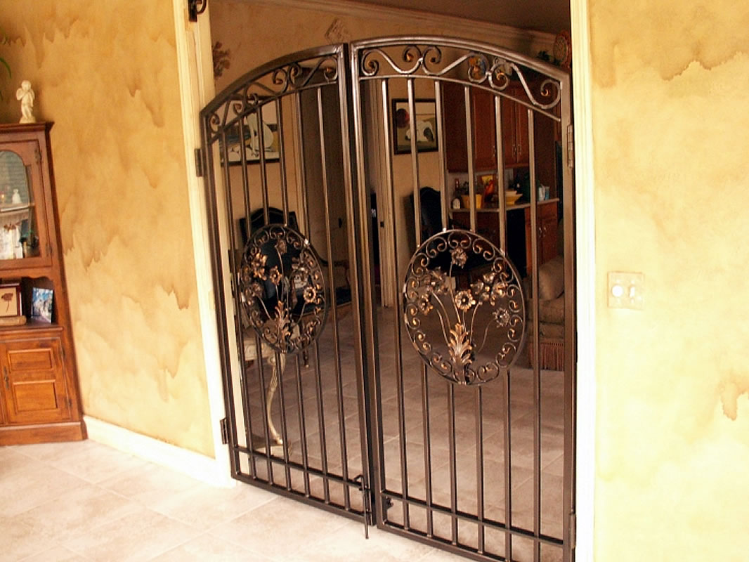 Interior gates custom made to order from wrought iron or for Indoor gate design