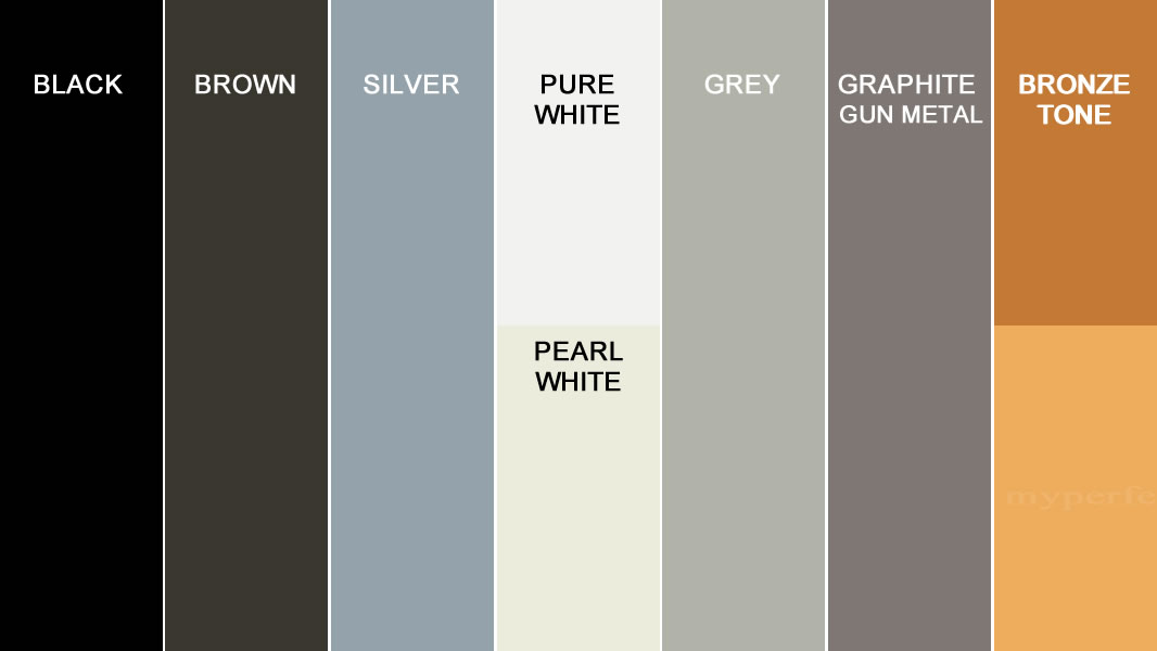 Color Samples for Aluminum Driveway Gates