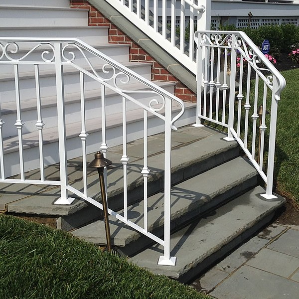 Exterior Wrought Iron Railings | Outdoor Wrought Iron Stair Railings
