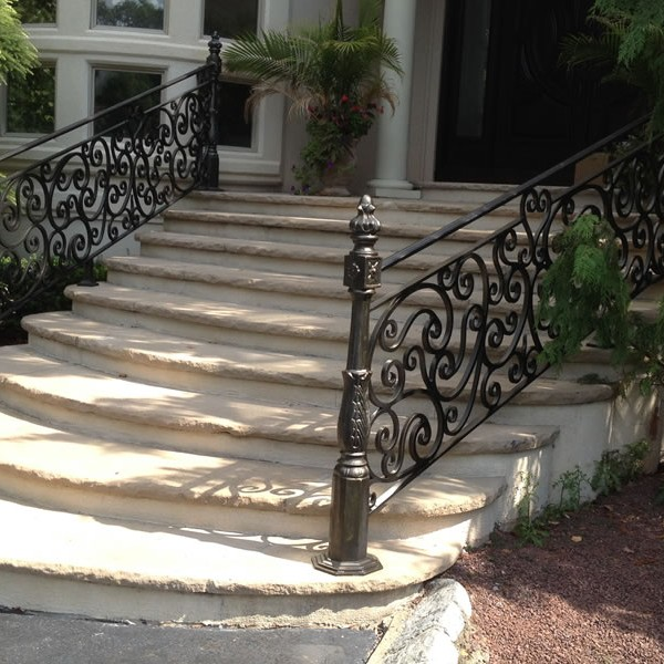 Exterior Wrought Iron Railings Outdoor Wrought Iron Stair Railings