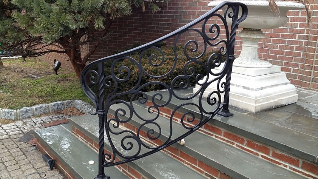 custom made to order ornamental metal railings and enclosures