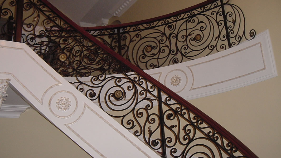 A Few Examples Of Our Interior Wrought Iron Stair Railings