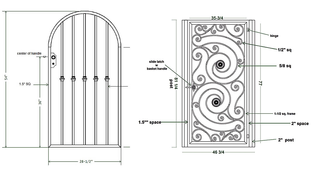 CAD Drawing of a Commercial Railing